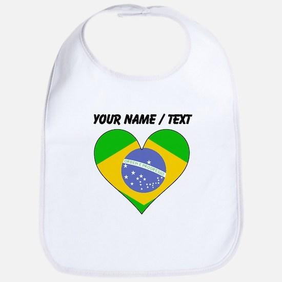 Custom Brazil Flag Heart Bib