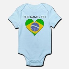 Custom Brazil Flag Heart Body Suit