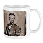 Abraham Lincoln coffee cup