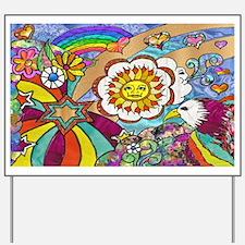 Psychedelic Sunshine Art Yard Sign