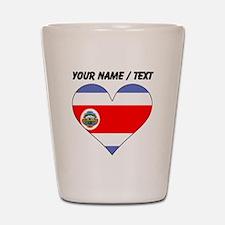 Custom Costa Rica Flag Heart Shot Glass