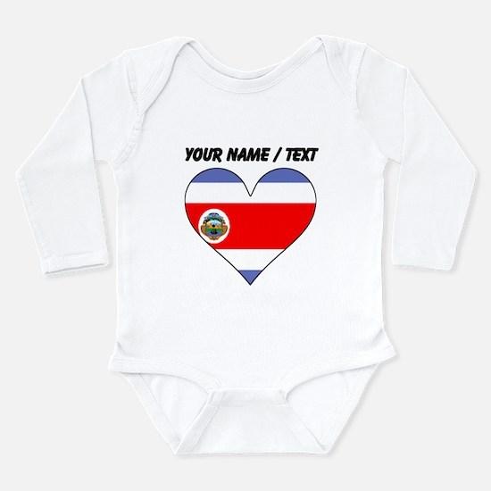 Custom Costa Rica Flag Heart Body Suit