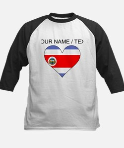 Custom Costa Rica Flag Heart Baseball Jersey
