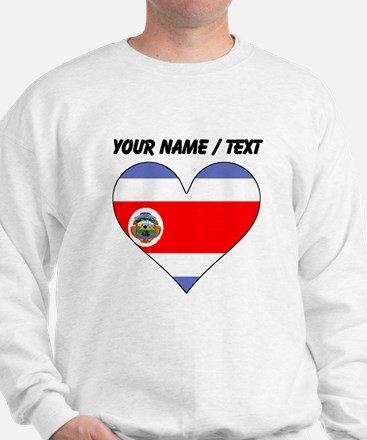 Custom Costa Rica Flag Heart Jumper