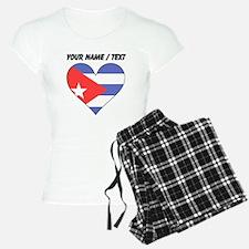 Custom Cuba Flag Heart Pajamas