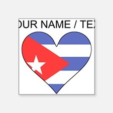 Custom Cuba Flag Heart Sticker