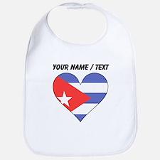 Custom Cuba Flag Heart Bib