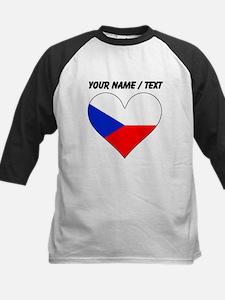 Custom Czech Republic Flag Heart Baseball Jersey