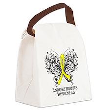Endometriosis Awareness Canvas Lunch Bag