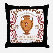 Swift Footed Achilles Throw Pillow