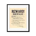 Northfield Bank Robbery Framed Panel Print