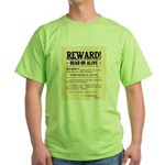 Northfield Bank Robbery Green T-Shirt