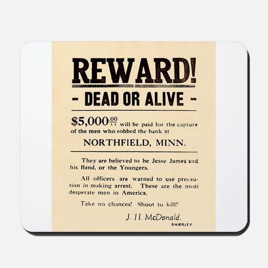 Northfield Bank Robbery Mousepad