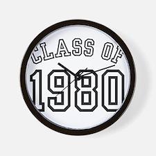 Class of 1980 Wall Clock