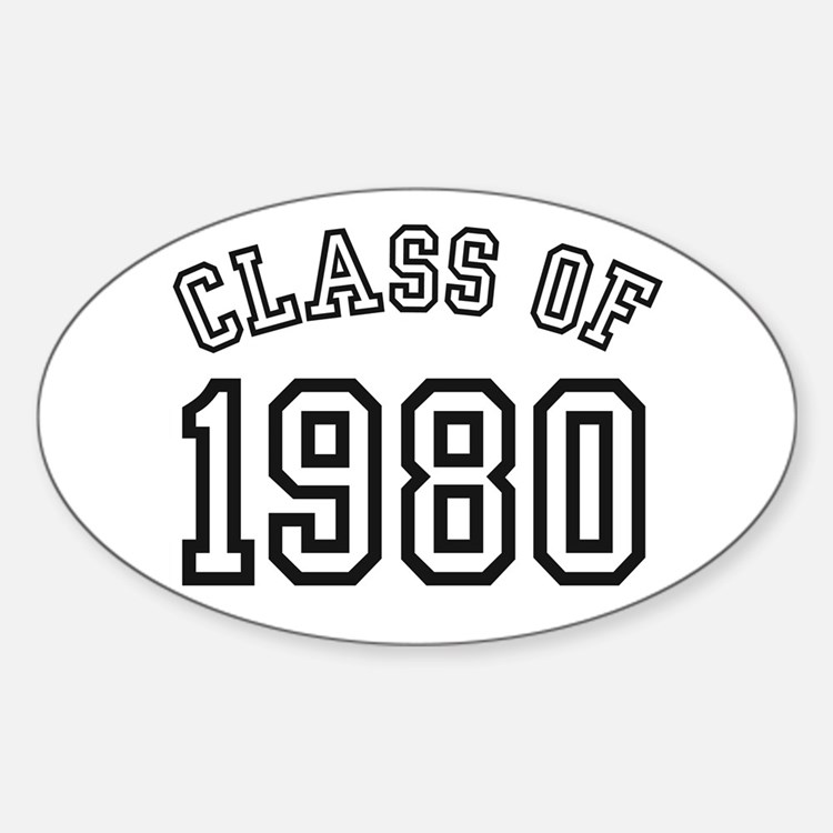 Class of 1980 Oval Decal