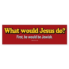 WWJD Bumper Sticker
