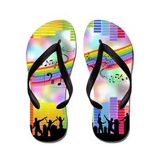 Colorful Musical Theme Flip Flops