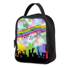 Colorful Musical Theme Neoprene Lunch Bag