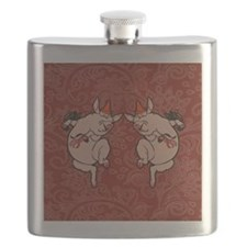 Dancing Pig Vintage Cute Dancer Flask
