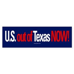 U.S. Out of Texas sticker