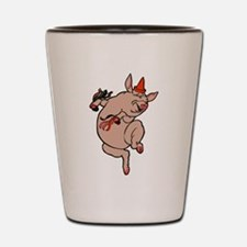 Dancing Pig Vintage Cute Dancer Shot Glass