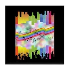 Colorful Musical Theme Tile Coaster