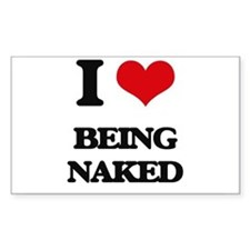 I Love Being Naked Decal