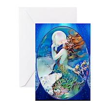 Clive Sensual Pearl Mermaid Greeting Cards