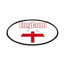 English Flag Ribbon - St George Cross Patches