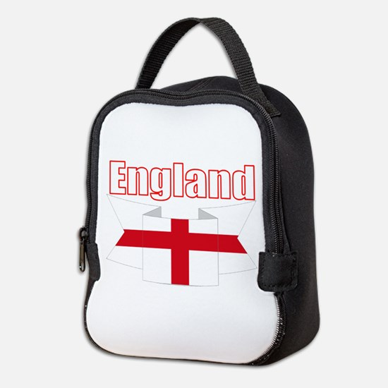 English Flag Ribbon - St George Neoprene Lunch Bag