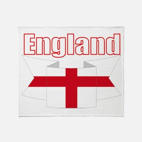 English Flag Ribbon - St George Throw Blanket