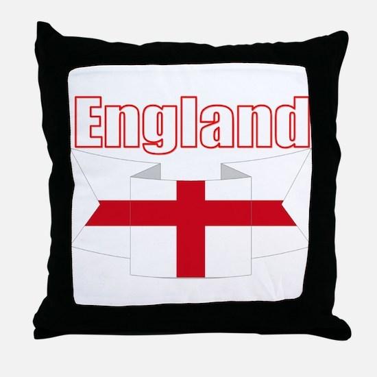 English Flag Ribbon - St George Cross Throw Pillow