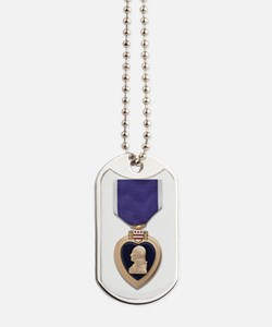 Purple Heart Dog Tags