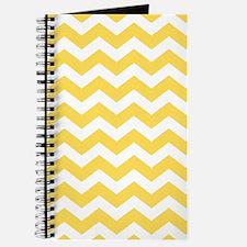 Yellow Chevron Pattern Journal
