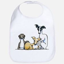 Italian Greyhound Trio Bib