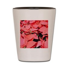 Poinsettia Field Shot Glass