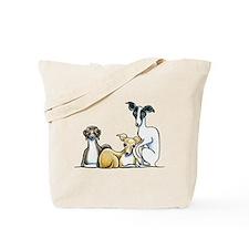 Italian Greyhound Trio Tote Bag