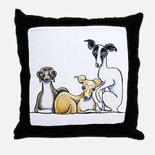Italian Greyhound Trio Throw Pillow