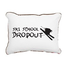 Ski School Dropout Rectangular Canvas Pillow