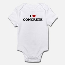 I Love CONCRETE Infant Bodysuit