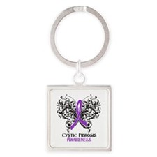 Cystic Fibrosis Awareness Square Keychain