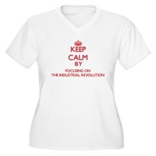 Keep Calm by focusing on The Ind Plus Size T-Shirt