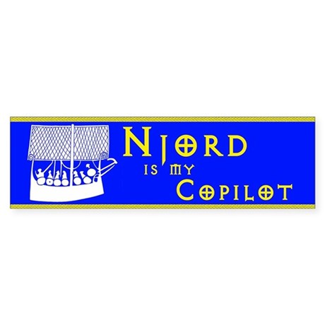 Njord is my Copilot bumper sticker