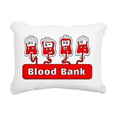 Blood Bank Rectangular Canvas Pillow