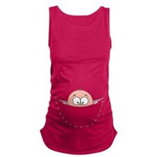 Peek a Boo baby girl boy pocket Maternity Tank Top