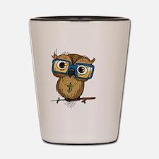 Owl Hipster Shot Glass