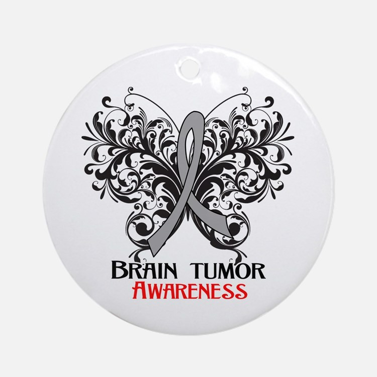 Brain Tumor Awareness Ornament (Round)
