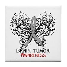Brain Tumor Awareness Tile Coaster