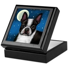 BOSTON TERRIER FULL MOON Keepsake Box