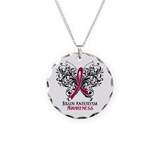 Brain Aneurysm Awareness Necklace Circle Charm